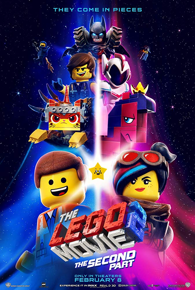 Movie poster for The Lego Movie 2